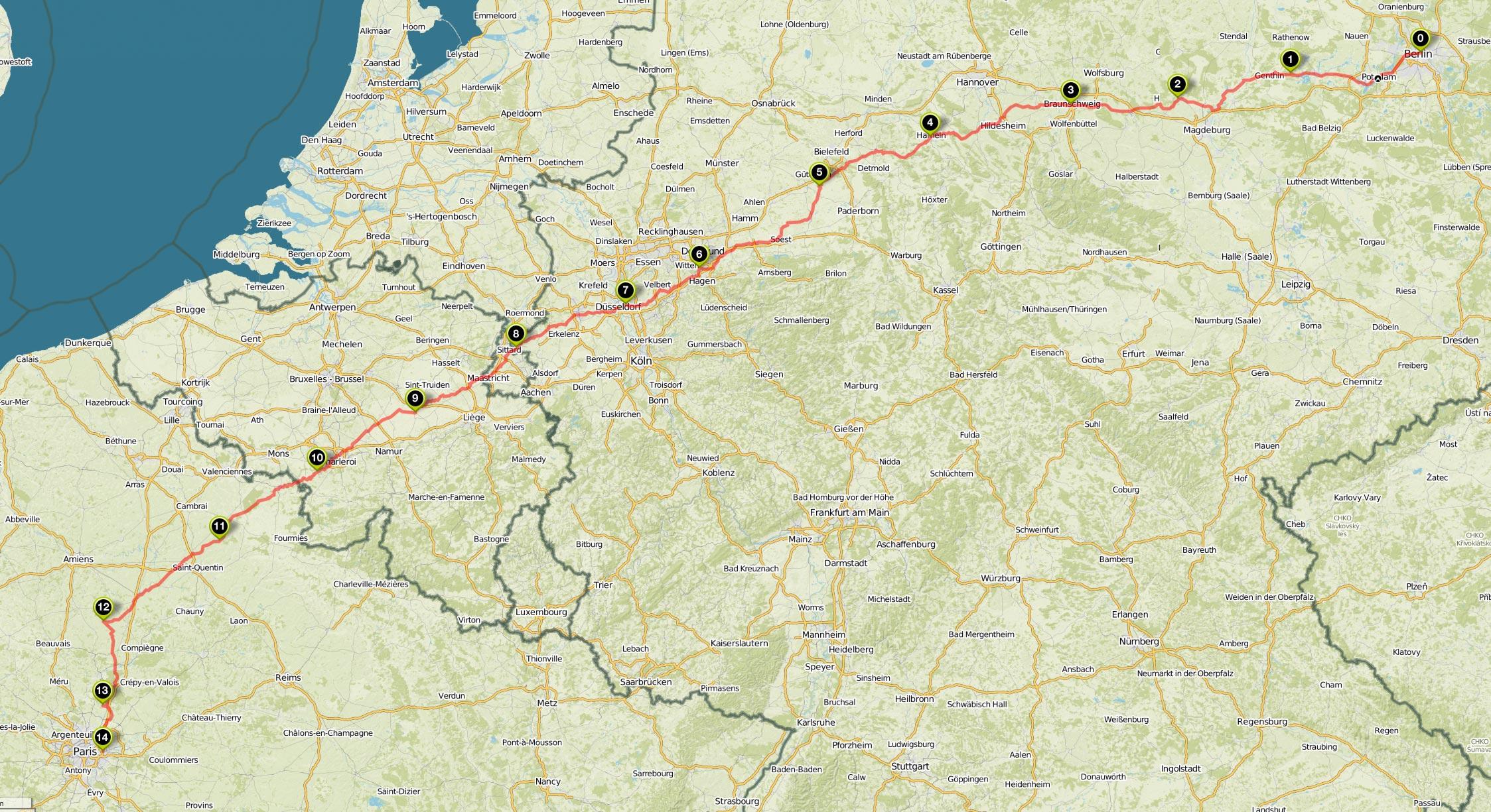 Vom Fernseherturm zum Eiffelturm - Mit dem Fahrrad von Berlin nach paris
