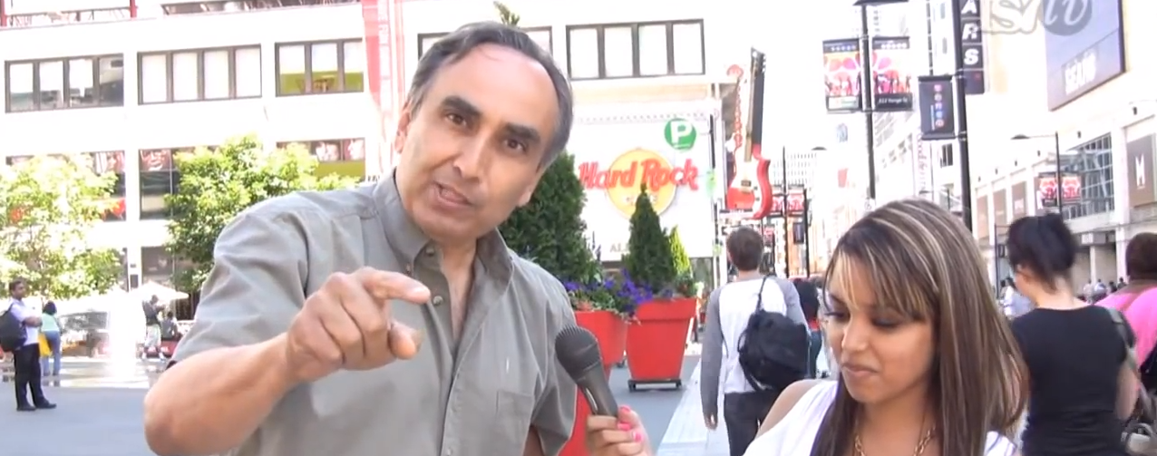Man Goes Crazy Rips off Shirt During Street Interview