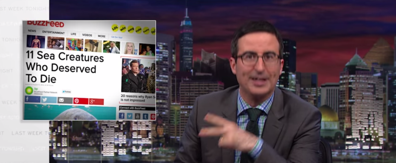 John Oliver über Native Advertising