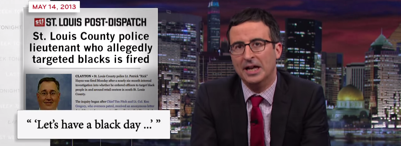 Last Week Tonight with John Oliver: Ferguson, MO and Police Militarization