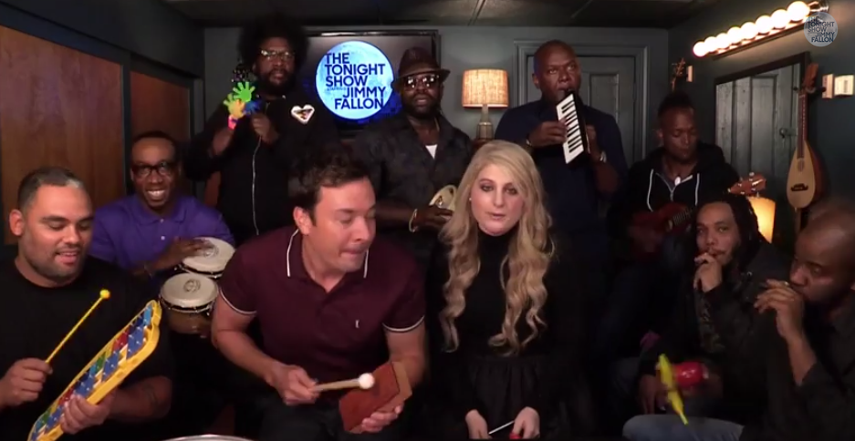 "Jimmy Fallon, Meghan Trainor & The Roots - ""All About That Bass"""