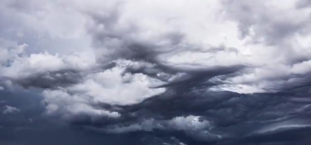 Timelapse von Undulatus Asperatus Wolken macht Angst und Spaß!