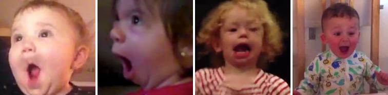 Babys schauen sich den Star Wars Trailer an