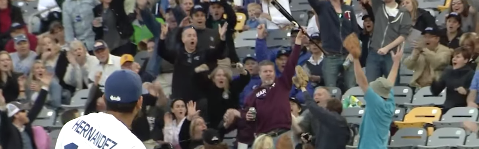 Amazing One-Handed Catch of Flying Bat by a Fan
