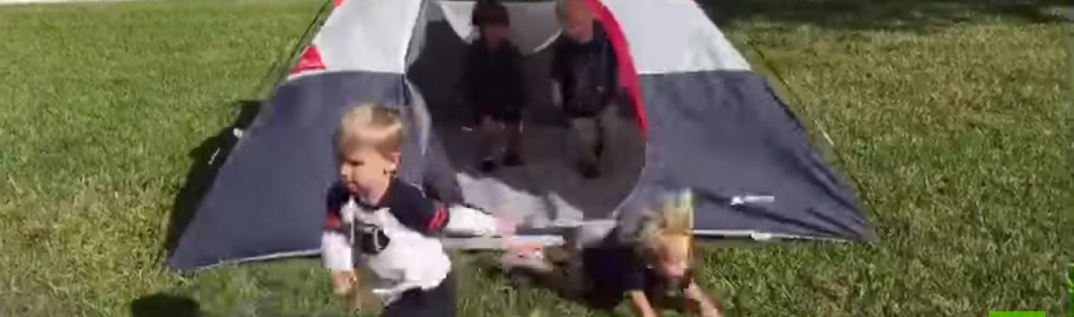 Ein Zelt sie zu knechten