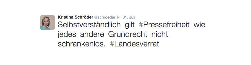 Kristina Schröder glaubt nicht, dass unsere Grundrechte schrankenlos sind