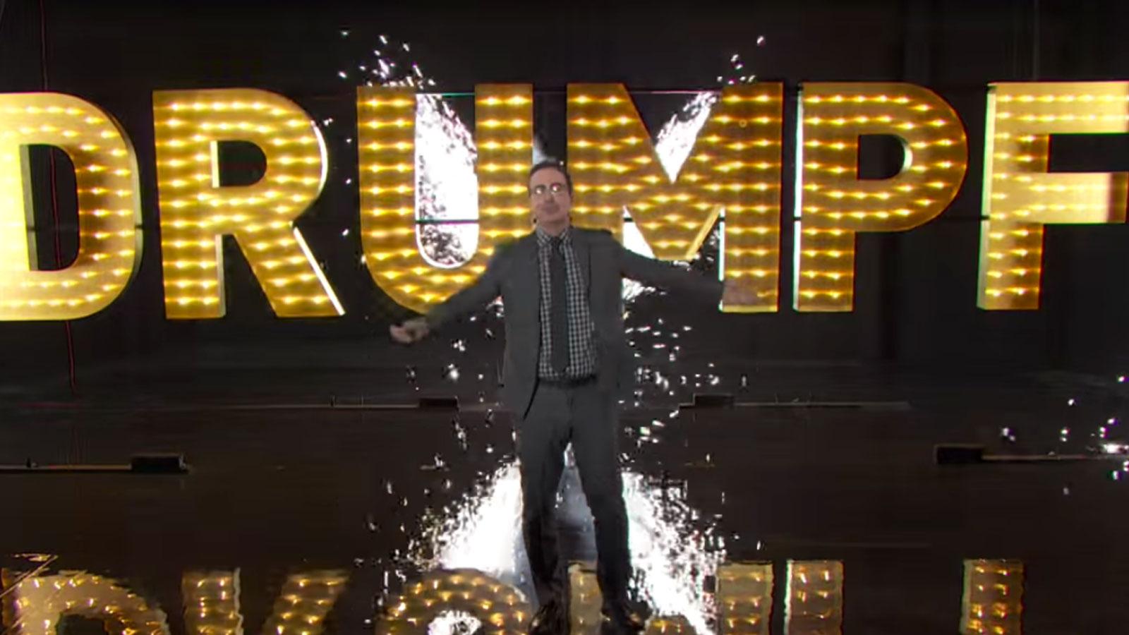 "#MAKEDONALDDRUMPFAGAIN – John Oliver über Donald ""Trump"" Drumpf"