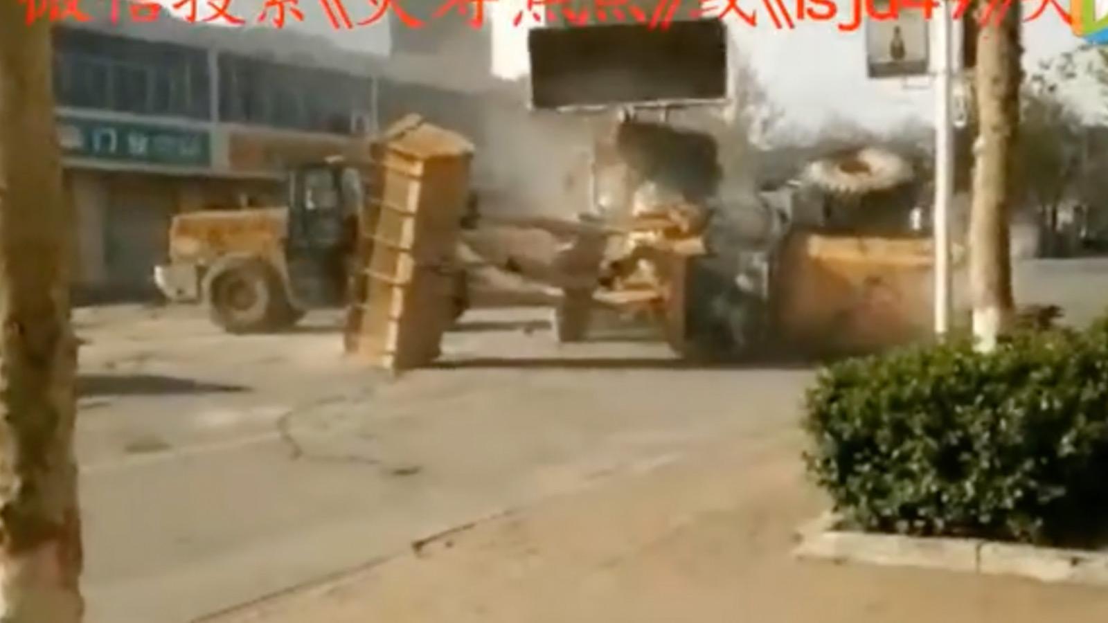 Wenn Bulldozer kämpfen